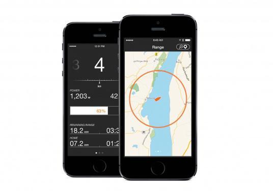 Das Upgrade für Ihren Bordcomputer! TorqTrac überträgt die Informationen auf dem Datenbus Ihres Torqeedo Antriebs per Bluetooth an Ihr Smartphone. Dort werden die Informationen nicht nur übersichtliche angezeigt. (Bild 5 von 8)