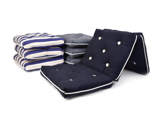 Floating triple cushion with genuine natural kapok fiber filling. Cover: 100% cotton. Dimensions: approx. 110 x 45 cm. Thickness of cushion: 10 cm.  (Imagen 2 of 2)