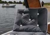 Cuscino da barca in Kapok a tre posti / antracite