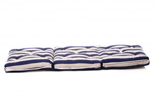 Triple coussin flottant garni en fibre kapok véritable. Enveloppe : 100% coton. Dimensions: env. 110 x 45 cm. Épaisseur : 10 cm. (Image 6 de 9)