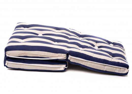 Schwimmfähiges Dreifach-Kissen mit echter Kapok-Naturfaser-Füllung. Bezug 100% Baumwolle. (Bild 8 von 9)