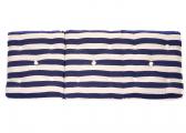 Cuscino da barca in Kapok a tre posti / strisce blu navy
