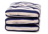 Imágen de Triple Kapok Cushion / striped navy-blue