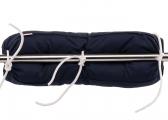 Coussin de filière en kapok / bleu marine