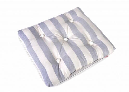 Schwimmfähiges Kissen mit echter Kapok-Naturfaser-Füllung. Bezug 100% Baumwolle. (Bild 2 von 6)