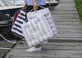 Cuscino da barca in Kapok / blu vintage
