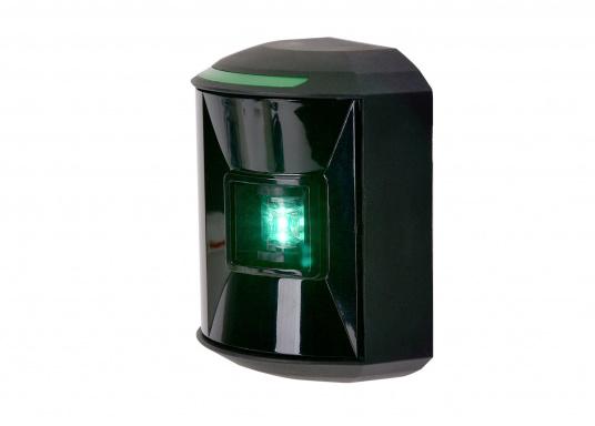 LED-Steuerbordlaterne der Serie 44 mit schwarzem Gehäuse.Die hochqualitativen und modernen LED-Positionsleuchten der Serie 44 überzeugen mit edlem Design und ultra heller Power LED. (Bild 5 von 6)