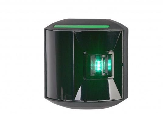 LED-Steuerbordlaterne der Serie 44 mit schwarzem Gehäuse.Die hochqualitativen und modernen LED-Positionsleuchten der Serie 44 überzeugen mit edlem Design und ultra heller Power LED. (Bild 2 von 6)