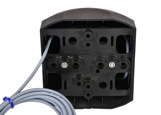 Series 44 LED port light with black housing.These high-quality and modernseries 44LED position lights impress with their elegant design and ultra-bright LEDs. (Image 3 of 5)