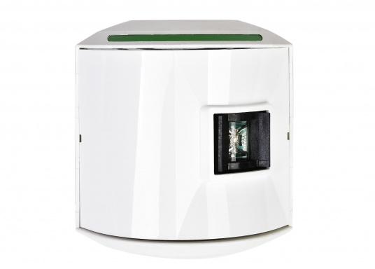 LED-Steuerbordlaterne der Serie 44 mit weißem Gehäuse. Die hochqualitativen und modernen LED-Positionsleuchten der Serie 44 überzeugen mit edlem Design und ultra heller Power LED. (Bild 2 von 5)