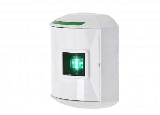 LED-Steuerbordlaterne der Serie 44 mit weißem Gehäuse. Die hochqualitativen und modernen LED-Positionsleuchten der Serie 44 überzeugen mit edlem Design und ultra heller Power LED. (Bild 4 von 5)