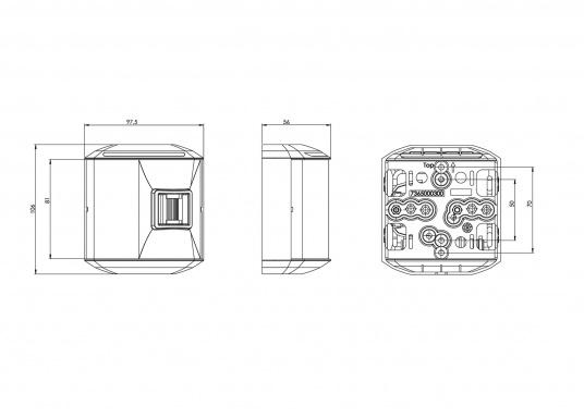 Hecklaterne der Serie 44 mit weißem Gehäuse. Die hochqualitativen und modernen LED-Positionsleuchten der Serie 44 überzeugen mit edlem Design und ultra heller Power LED. (Bild 4 von 4)