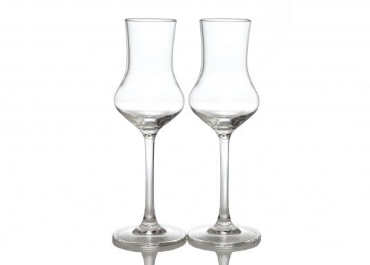 Raise your glasses! These shatterproof grappa glasses, made out of polycarbonate come in a 2-set and are incredibly trendy and durable.