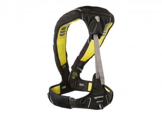 Die Spinlock Rettungsweste 5D lässt sich optimal anpassen und ist sehr leicht und bequem zu tragen. Geeignet für einen Brustumfang von 75 - 125 cm. Ihr persönliches Hochleistungsrettungssystem! (Bild 4 von 10)