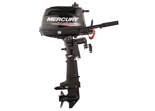 The MERCURY FourStroke provides portable power and thrust for exact operation. The 6HP engine's low weight is especially suitable for shallow waters. (Image 3 of 9)