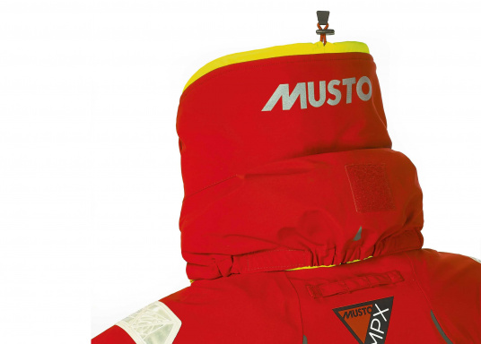 Die Jacke, die dem Offshore-Segler wirklich entspricht. Mit hochstellbarem Kragen und einer Kapuze, die völlig verschließbar ist. MPX GORETEX ® steht für das beste Material für den anspruchsvollen Segler. (Bild 4 von 6)
