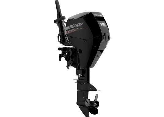 Der Außenborder F15 EFI von Mercury lässt intuitives Manövrieren für eine präzise Kontrolle zu - für eine All-in-One-Performance. Der ideale Bootsmotor.
