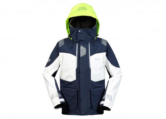 Designed for cruising sailors who spend considerable time on the water. The jacket is mesh lined and is fully waterproof and breathable. Features such as the high fleece-lined collar, a double storm flap and fleece lined pockets will enhance comfort on the water.  (Image 2 of 8)