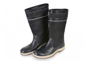 Leather Boots / anthracite