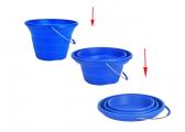 Secchio pieghevole in silicone / 7 litri