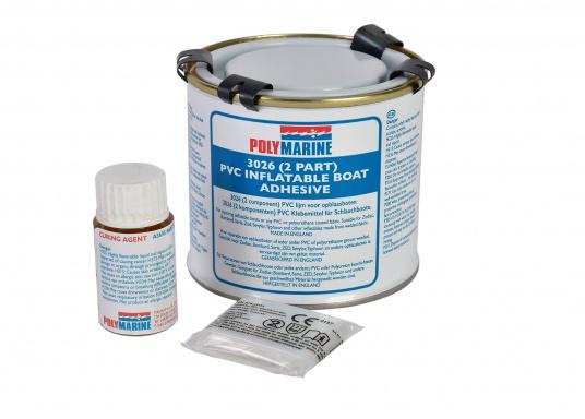 2-Komponenten PVC-Kleber zum Kleben von Schlauchbooten. Seewasser- und hitzbeständig. Inhalt: 250 ml.