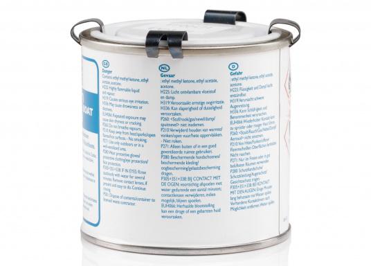2-Komponenten PVC-Kleber zum Kleben von Schlauchbooten. Seewasser- und hitzbeständig. Inhalt: 250 ml. (Bild 2 von 2)