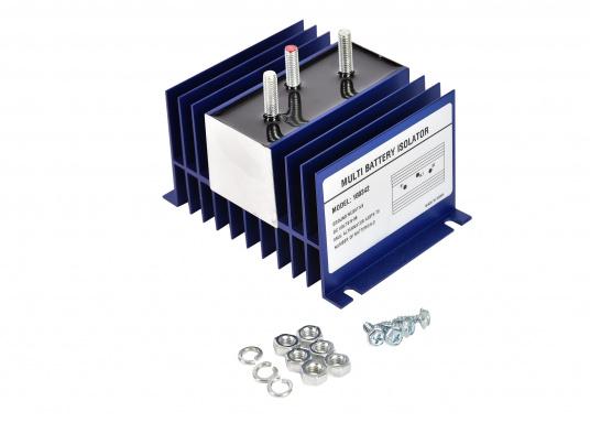 Trenndioden gehören zu den bekanntesten Komponenten der traditionellen Ladetechnik. Sie ermöglichen das gleichzeitige Laden von getrennten Batteriesystemen, ohne dass es während des Ladens oder bei Entladung/Belastung zu möglichen Ausgleichsstömen zwischen den Batterien kommen kann. (Bild 2 von 2)