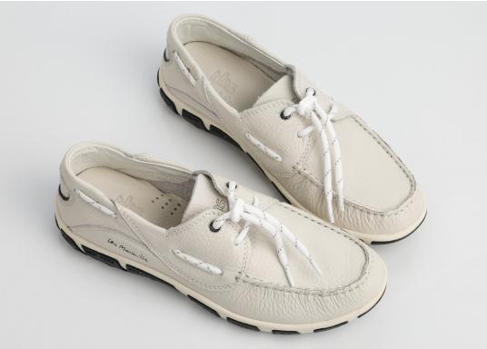 Superbequemer, optisch ansprechender Segel-Schuh aus weichem Kalbsleder. Super geschmeidig und daher auch unbedenklich barfuß zu tragen.  (Bild 5 von 6)