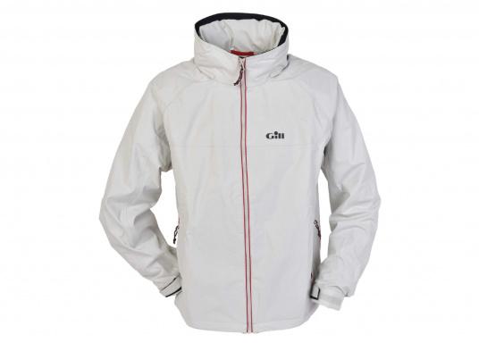 Eine leichte, wasserdichte Jacke, die sich klein verpacken lässt und sowohl auf dem Wasser wie auch an Land getragen werden kann.