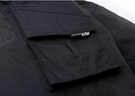 Résistant, imperméable et respirant. Ce pantalon totalement étanche offre une excellente protection contre le vent et l'eau. Conçu pour une utilisation dans des conditions rudes et humides, en mer. Ce pantalon a des poches matelassées, du matelassage supplémentaire peut être ajouté optionnellement. (Image 3 de 5)