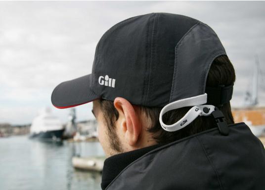 Sehr leichte und atmungsaktive Cap mit wasserabweisender Ausrüstung. Die Cap verfügt über einen UV-Schutzfaktor von 50+ und einen integrierten Cap-Catcher. (Bild 3 von 3)