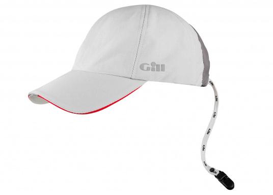 Sehr leichte und atmungsaktive Cap mit wasserabweisender Ausrüstung. Die Cap verfügt über einen UV-Schutzfaktor von 50+ und einen integrierten Cap-Catcher.