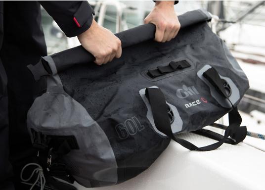 Ihr rasanter Reisebegleiter zur nächsten Regatta oder einfach für den Wochenendtörn: Die Tasche hat einen Inhalt von 60 Litern und besteht aus stichfestem, wasserdichtem PVC- Tarpulin und hat komplett geschweißte Nähte. (Bild 3 von 5)