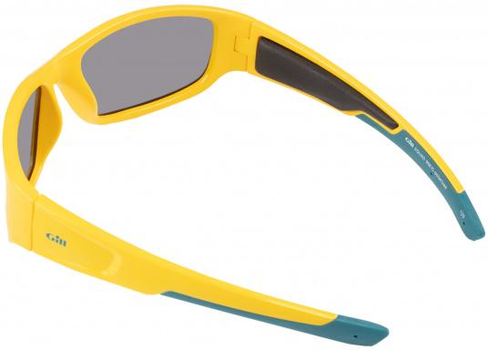 Modern, buoyant sunglasses with UV protection and 100% non-glare, polarized lenses especially designed for use on the water. (Image 3 of 3)