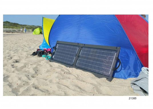 Plug- & Play-Solarlösung für 12 V Steckdose/Zigarettenanzünder. Solarmodul auslegen, Laderegler einstecken – fertig. Keine Installation. Im Lieferumfang enthalten 5 m Kabel, Laderegler FOX-062. Mobiler Einsatz der Solarmodule bei Booten, Ferienhaus, Outdoor. Made in Germany. (Bild 8 von 20)