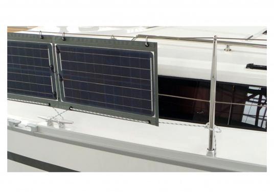 Plug- & Play-Solarlösung für 12 V Steckdose/Zigarettenanzünder. Solarmodul auslegen, Laderegler einstecken – fertig. Keine Installation. Im Lieferumfang enthalten 5 m Kabel, Laderegler FOX-062. Mobiler Einsatz der Solarmodule bei Booten, Ferienhaus, Outdoor. Made in Germany. (Bild 3 von 20)