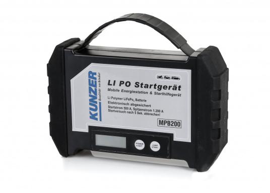 Die handliche und leistungsstarke Li-Ion-Polymer Batterie verfügt über eine Kapazität von 20.000 mAh. Somit lassen sich mit ihrer Hilfe sogar Autos oder Motorräder starten!