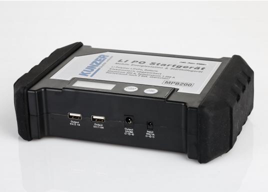 Die handliche und leistungsstarke Li-Ion-Polymer Batterie verfügt über eine Kapazität von 20.000 mAh. Somit lassen sich mit ihrer Hilfe sogar Autos oder Motorräder starten! (Bild 10 von 15)