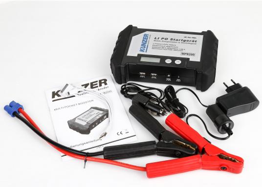 Die handliche und leistungsstarke Li-Ion-Polymer Batterie verfügt über eine Kapazität von 20.000 mAh. Somit lassen sich mit ihrer Hilfe sogar Autos oder Motorräder starten! (Bild 2 von 15)