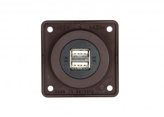 Doppel-USB-Steckdose passend zur INTEGRO FLOW Serie. Ideal zum Laden mobiler Endgeräte wie zum Beispiel Smartphones, Tables, Navigationsgeräte, Kameras etc. geeignet.