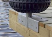 Défense de ponton à rouleau / bleu