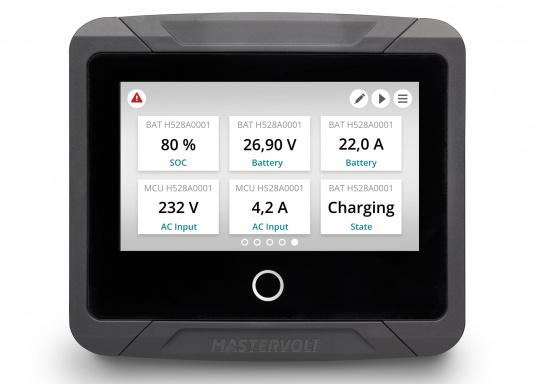 Controlling your Mastervolt system has never been easier. The EasyView 5 features a sharp, waterproof display which is clearly readable in daylight. (Imagen 3 de 10)