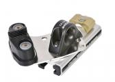 Chariot d'avale-tout avec filoir et taquet pour rail 25 x 4 mm