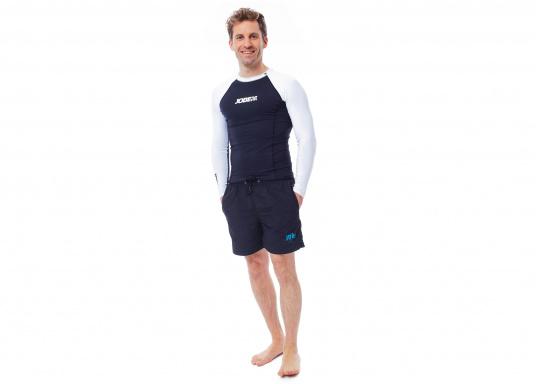 Das Langarm-Shirt RASHGUARDS gibt zusätzliche Wärme. Mit einem Schnellverschluss ist das Anziehen einfach, das verwendete Stretch-Gewebe gewährleistet optimalen Tragekomfort.