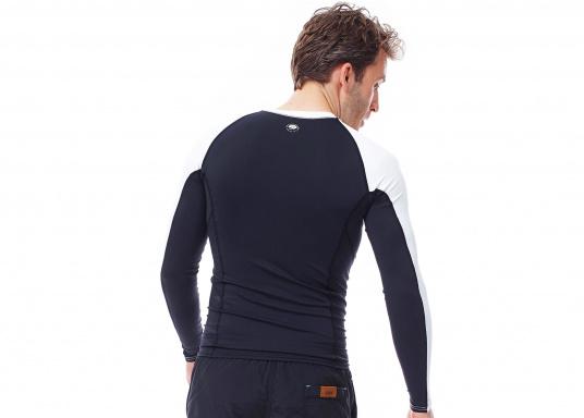 Das Langarm-Shirt RASHGUARDS gibt zusätzliche Wärme. Mit einem Schnellverschluss ist das Anziehen einfach, das verwendete Stretch-Gewebe gewährleistet optimalen Tragekomfort. (Bild 3 von 6)