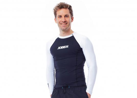 Das Langarm-Shirt RASHGUARDS gibt zusätzliche Wärme. Mit einem Schnellverschluss ist das Anziehen einfach, das verwendete Stretch-Gewebe gewährleistet optimalen Tragekomfort. (Bild 4 von 6)
