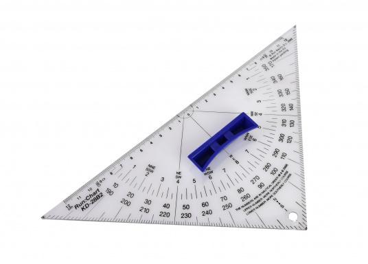 Hochwertige Ausführung aus 3 mm Acrylglas, transparent mit Thermoaufdruck und schwarzer Winkeleinteilung, sowie außenliegendem Nullpunkt. Mit ergonomischem, abnehmbarem Griff. (Bild 2 von 5)