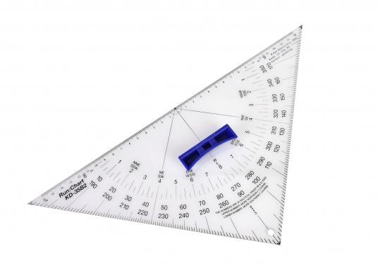 Hochwertige Ausführung aus 3 mm Acrylglas, transparent mit Thermoaufdruck und schwarzer Winkeleinteilung, sowie außenliegendem Nullpunkt. Mit ergonomischem, abnehmbarem Griff. (Bild 3 von 5)
