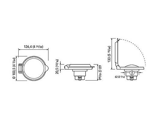 Dieser kompakte Fußtaster ist ideal für die Montage an Deck geeignet. Der Taster ist mit einer Schutzklappe ausgestattet, um ein versehentliches Bedienen zu verhindern. (Bild 7 von 7)
