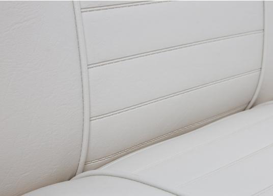 Back-To-Back Sitzbank mit Kunstlederbezug für zwei Personen mit Kunststoff-Aufbaurahmen. Die Sitzfläche lässt sich zu einer Liegefläche mit einer Länge von 166 cm ausklappen. (Bild 4 von 14)